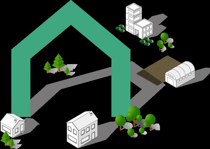 tekening arvo architectuur vorm en omgeving